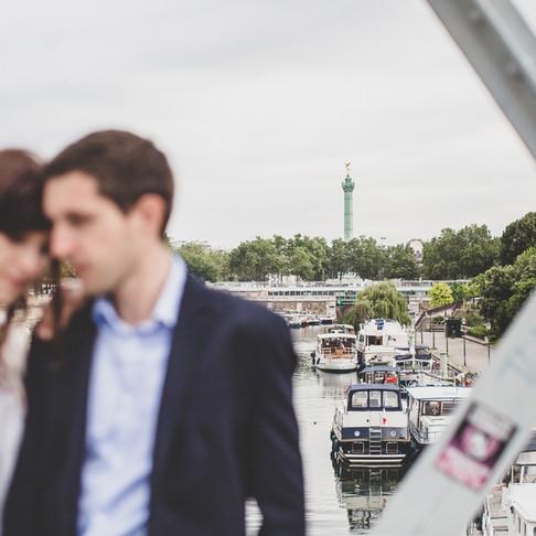 Séance photo couple à Paris Bastille