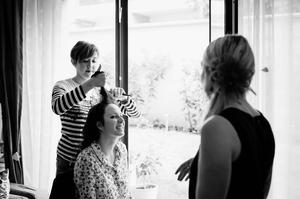 Photo mariage Montreuil coiffure de la mariée