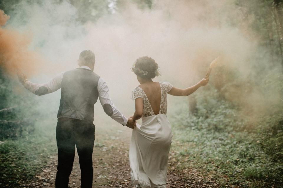 inspiration mariage nature fumigènes photographe paris