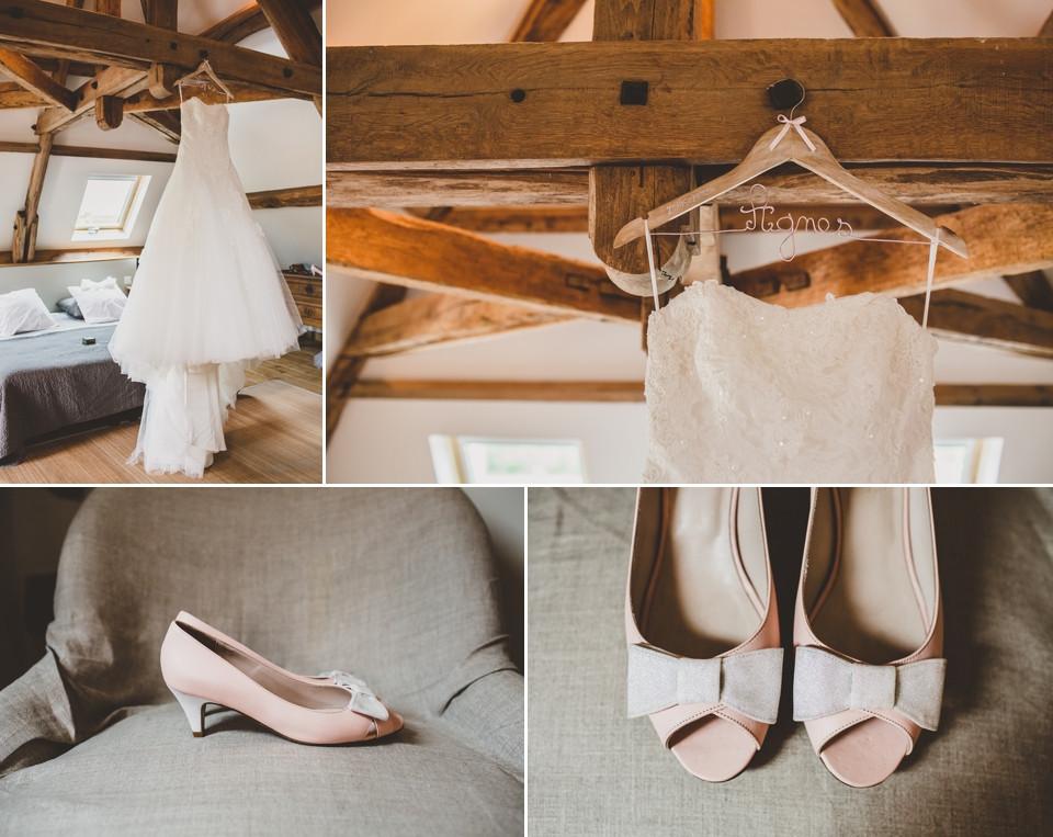 mariage domaine des evis perche robe chaussures mariée