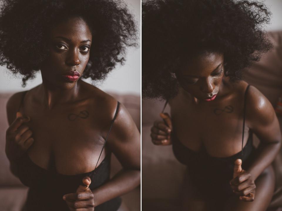 Portrait intime de femme - Photographe boudoir Paris - Carole J. Photographie