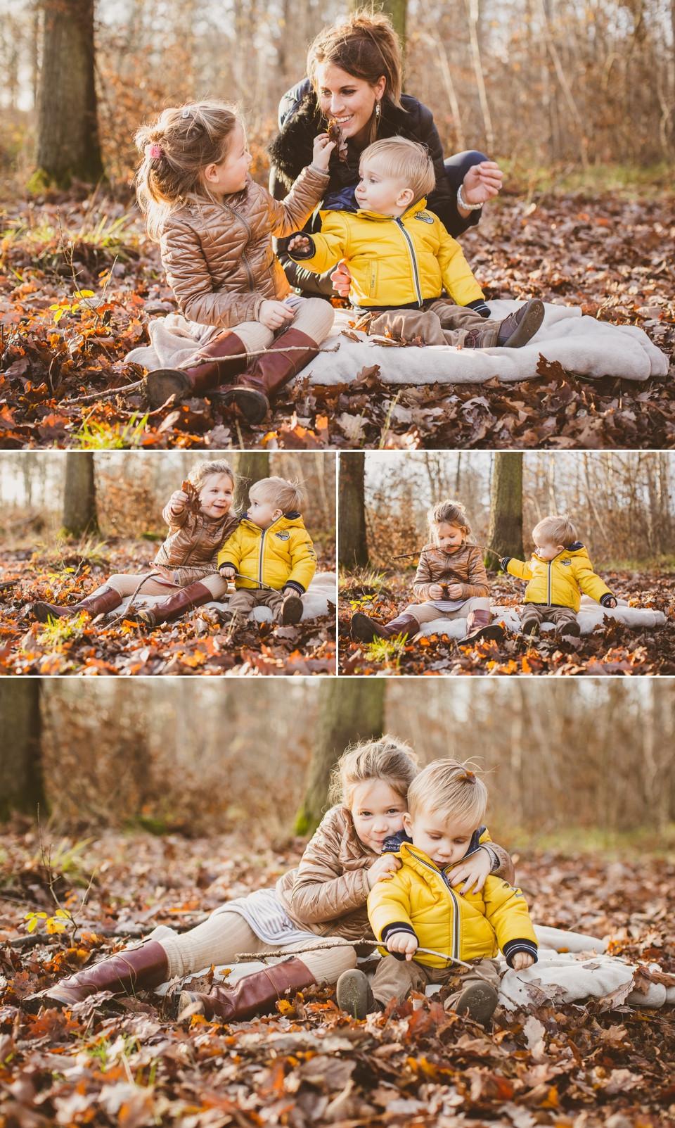 séance photo famille en forêt 94 Domaine de Grosbois