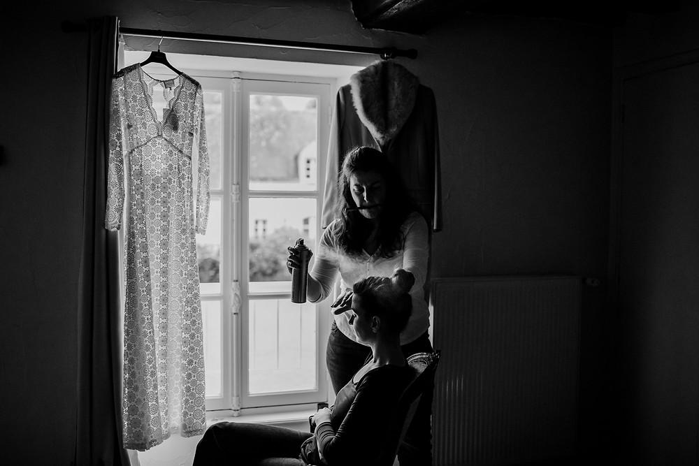 photo mariage hiver normandie préparation mariée photographe paris