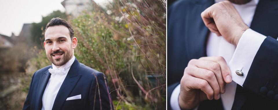 Mariage en hiver - Demeure des Vieux Bains - Le marié - Carole J. Photographie