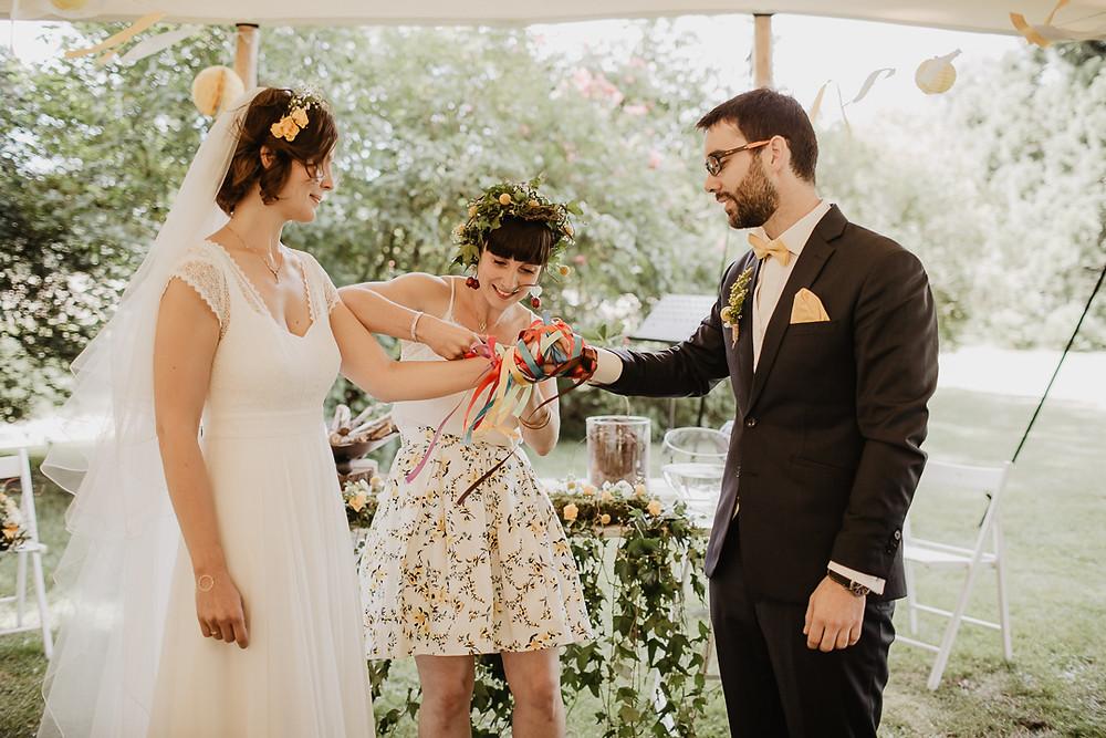 mariage rituel cérémonie laïque château de Courson