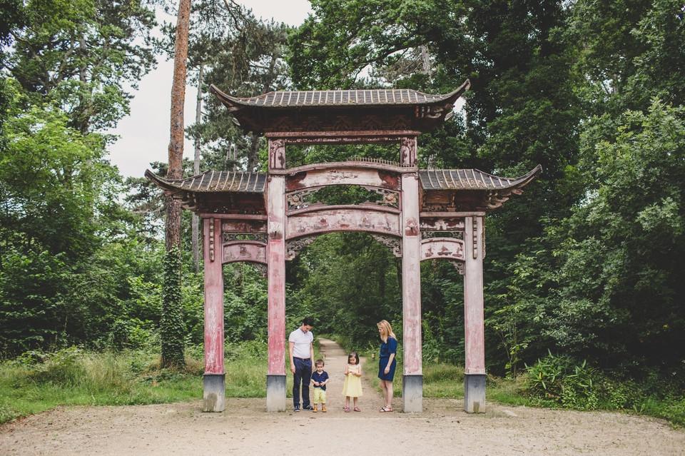 Séance photo famille 94 - Porte asiatique