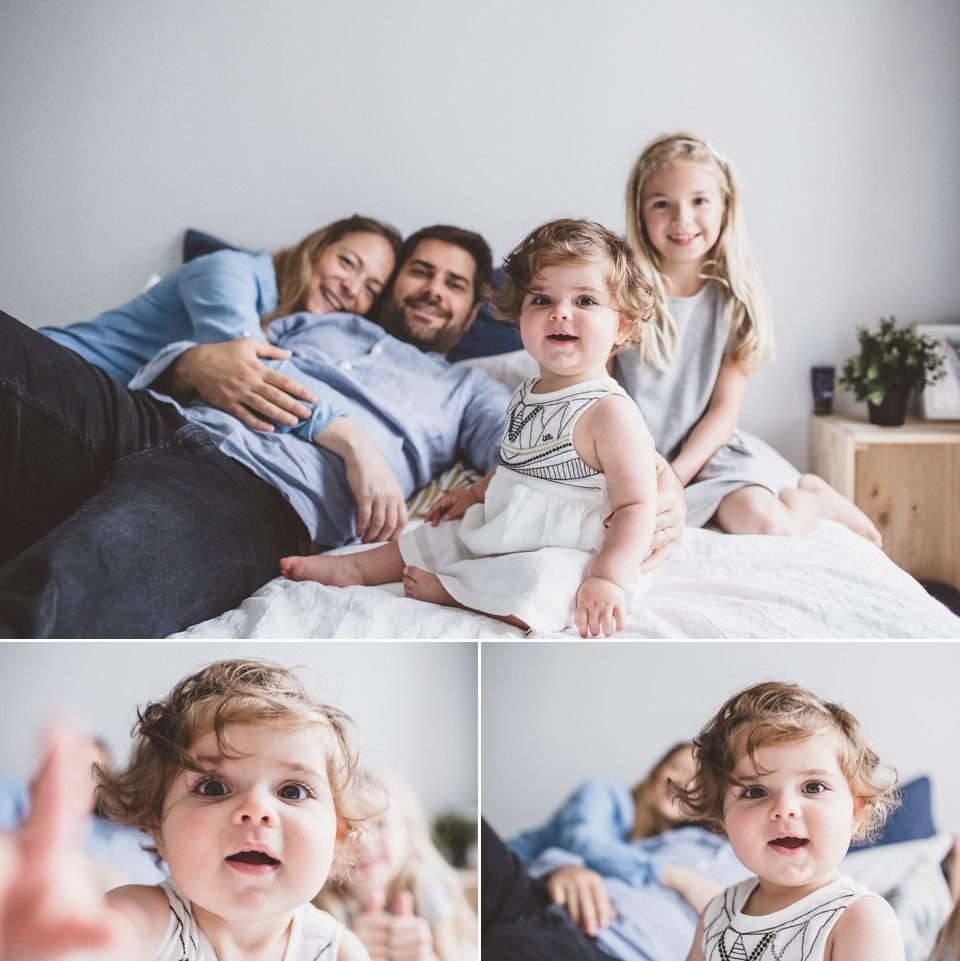 photographe famille 94 séance photo domicile sur le lit