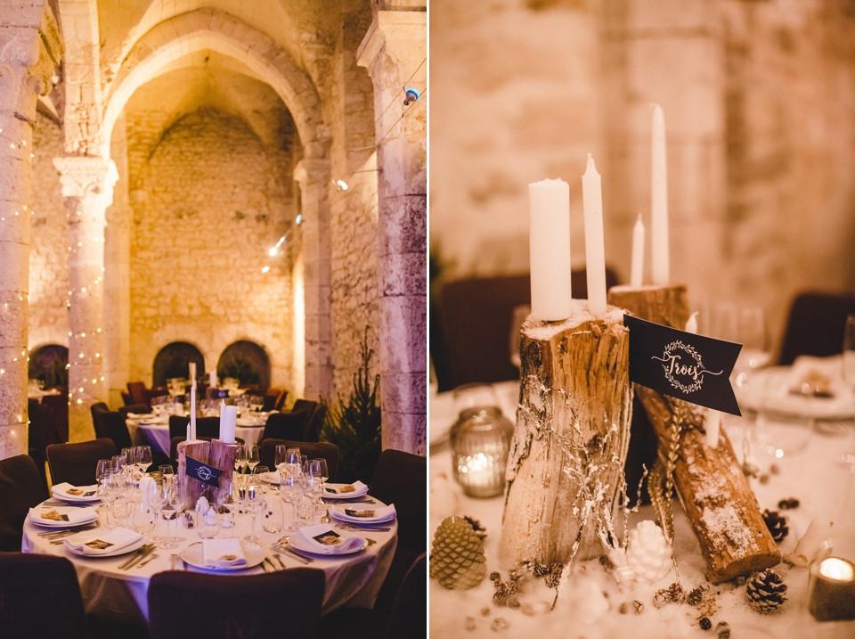 Mariage hiver Demeure des Vieux Bains Provins salle de réception décoration