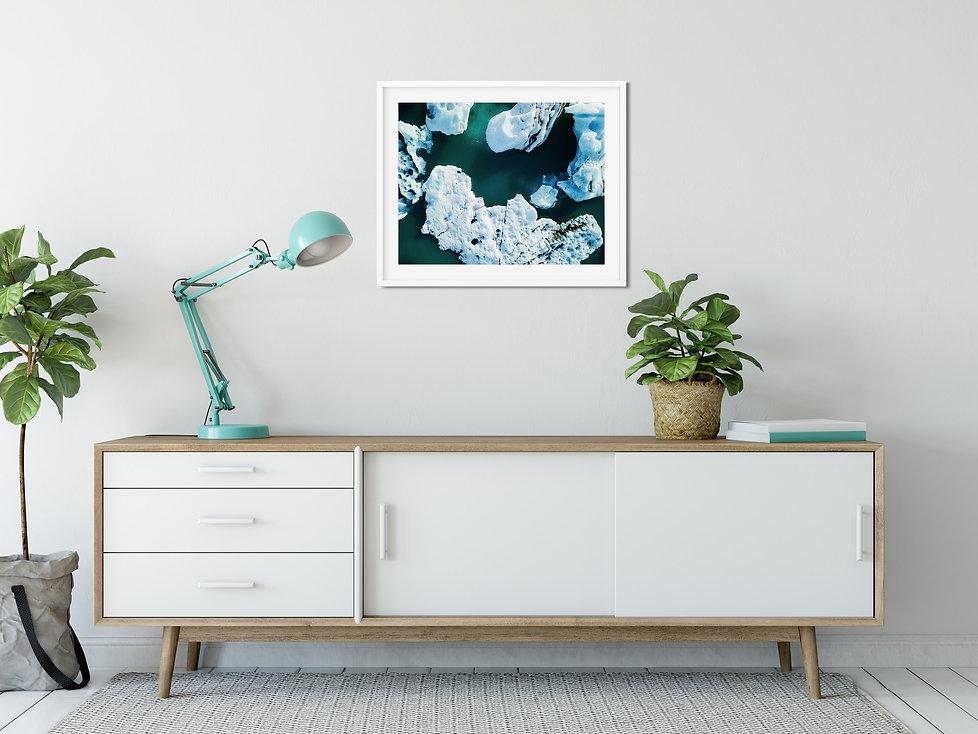 Photo encadrée décoration murale salon