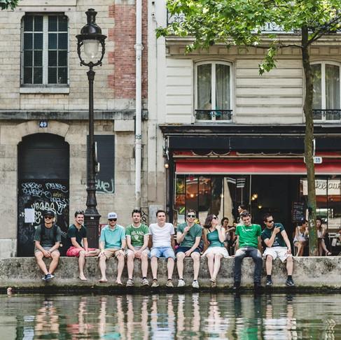 Séance photo EVG à Paris, Canal Saint-Martin