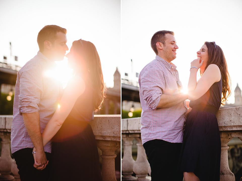 séance photo couple paris coucher de soleil