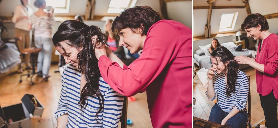 mariage domaine des evis perche coiffure mariée