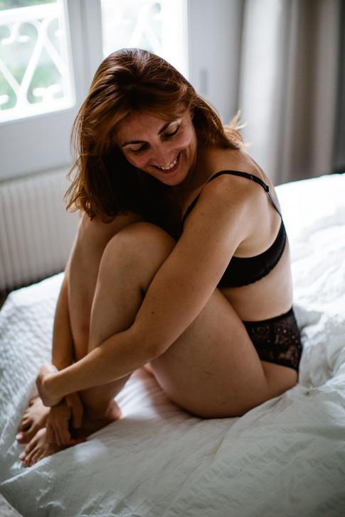 portrait intime femme paris Carole J. Photographie