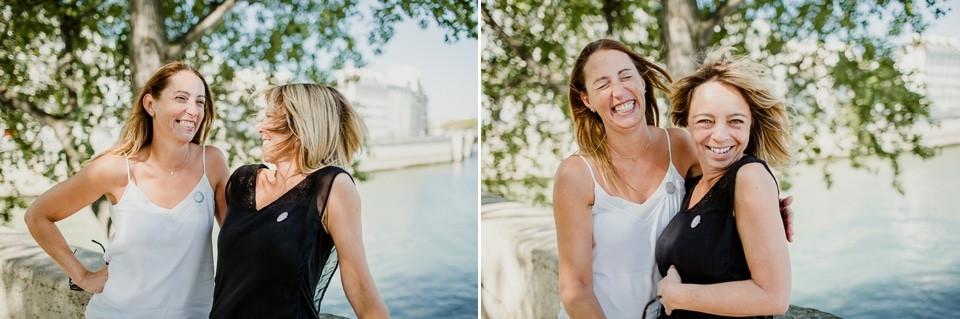 séance photo evjf paris île de la cité duo émotions