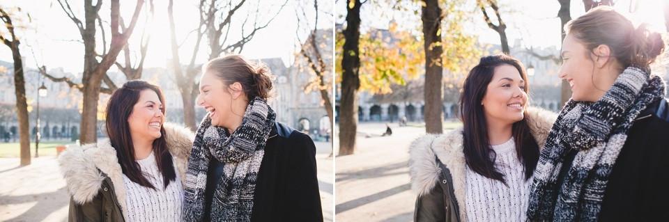 Séance photo EVJF Paris Place des Vosges en duo