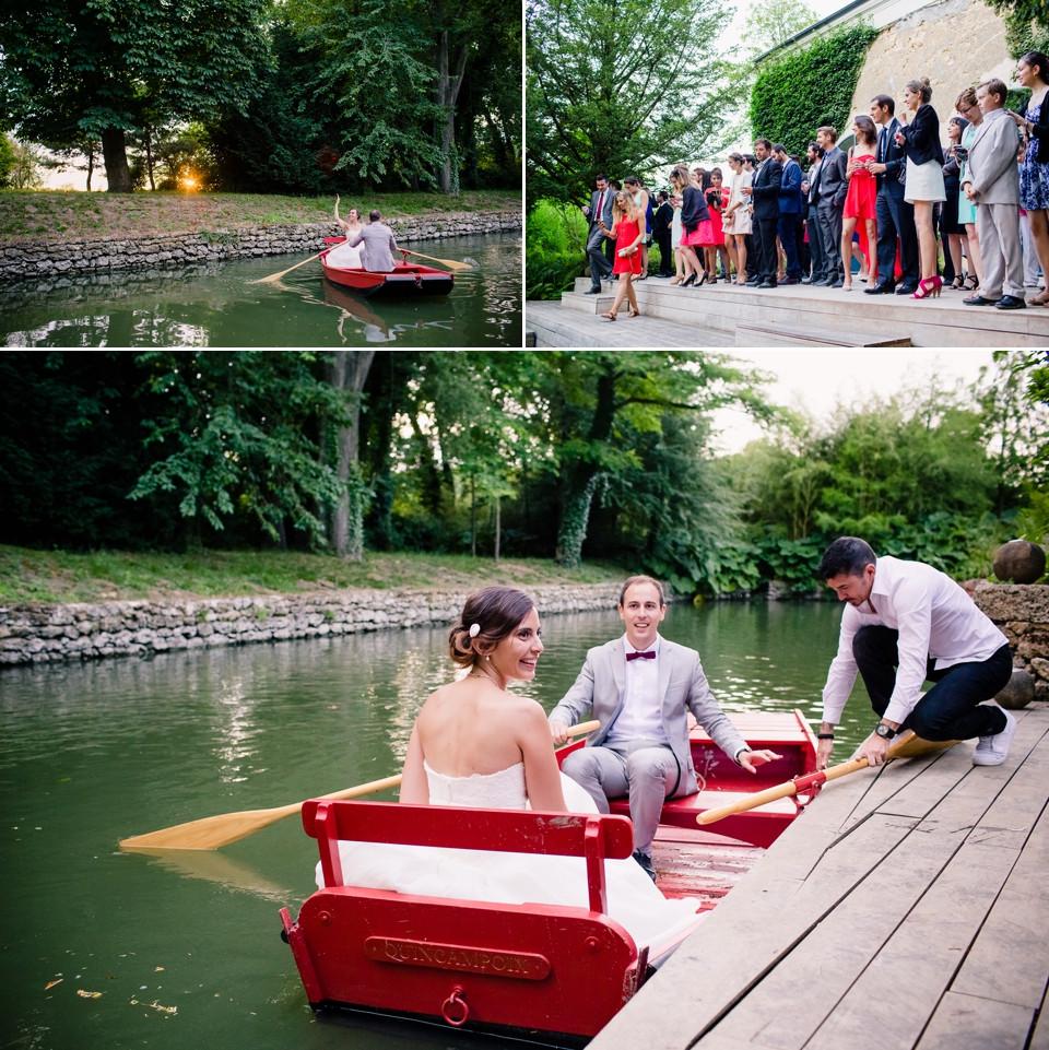 photo mariage domaine de quincampoix barque
