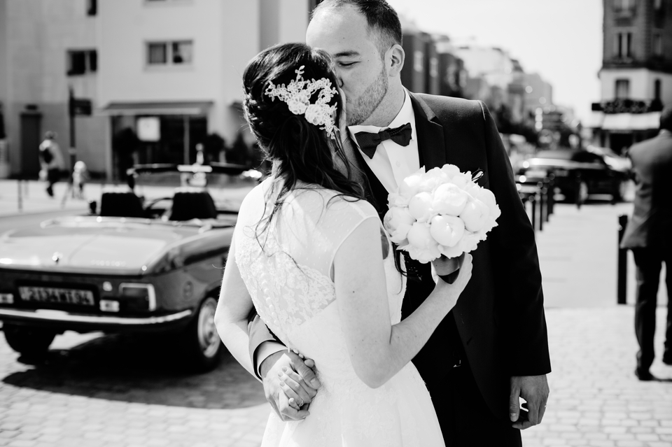 Photo couple mariage Montreuil mairie