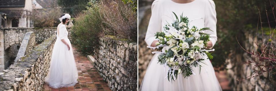 Mariage en hiver - Demeure des Vieux Bains - La mariée - Carole J. Photographie