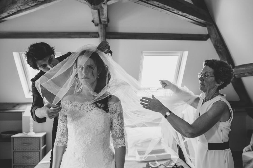 mariage domaine des evis perche préparation voile mariée