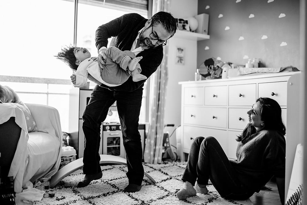 séance photo famille domicile - photographe 94