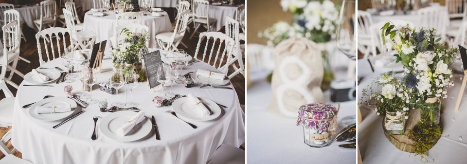 photographe mariage domaine des evis perche salle de réception décoration table