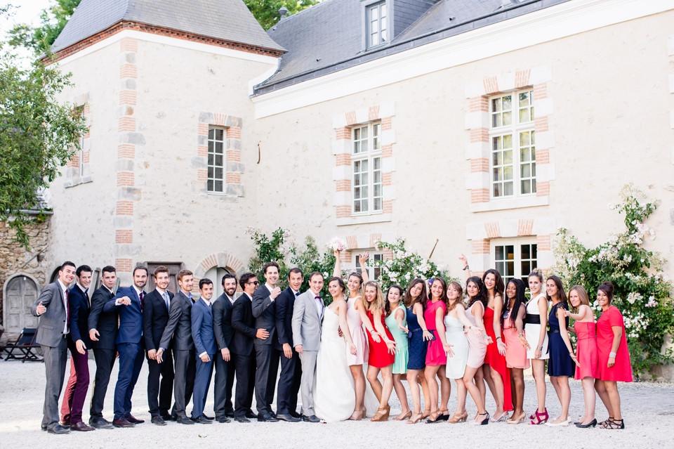 photo groupe mariage domaine de quincampoix 91