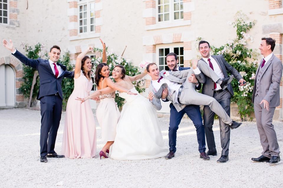photo mariage domaine de quincampoix 91 groupe