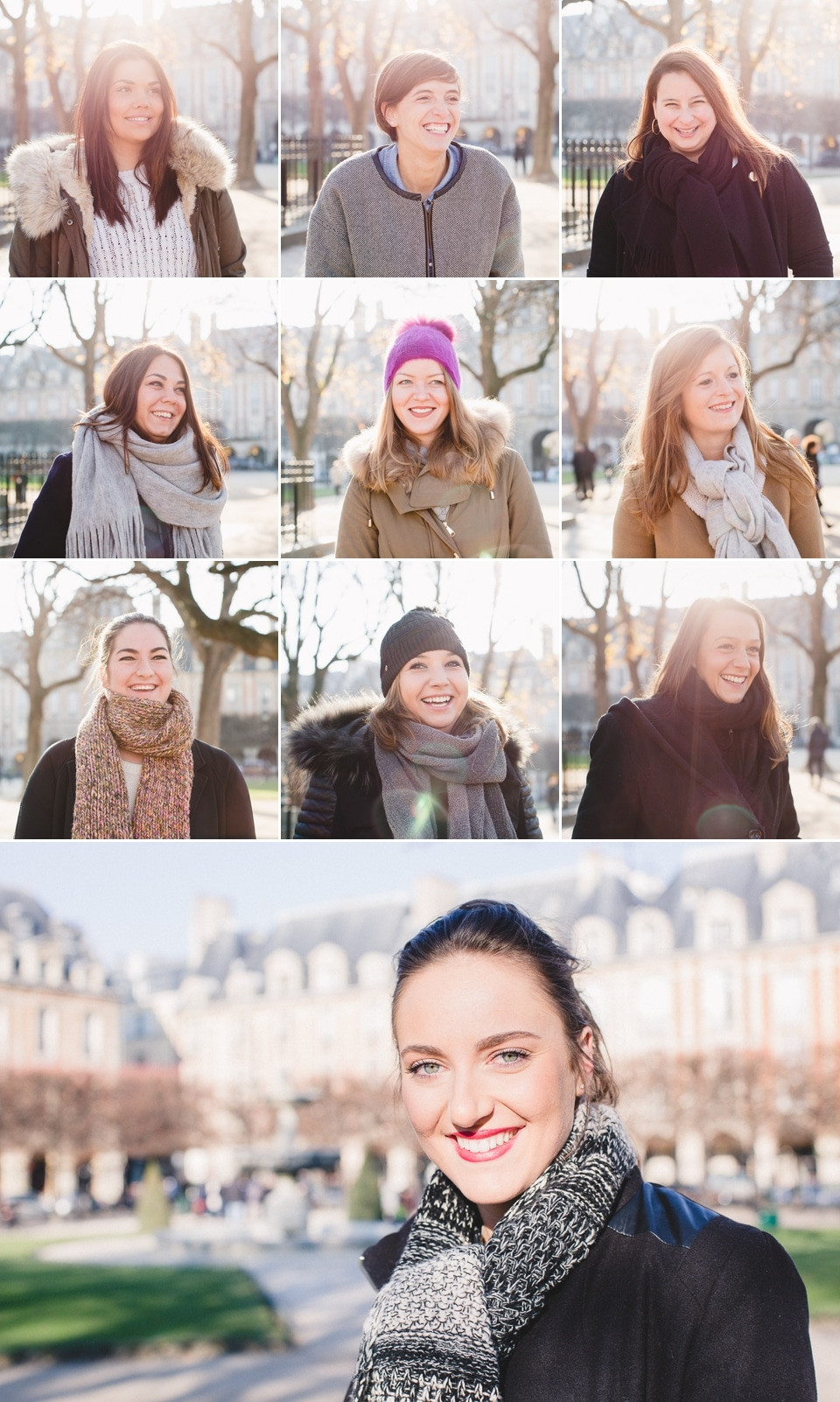 Séance photo EVJF Paris Place des Vosges portrait
