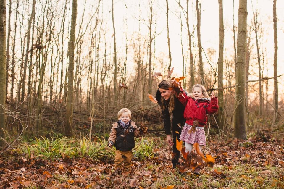 séance photo famille 94 forêt Domaine de Grosbois