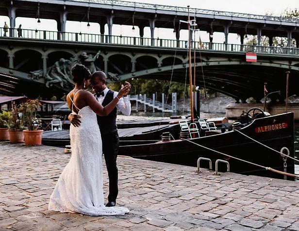 photo mariage paris pont bir hakeim