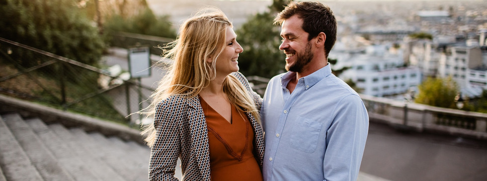 photographe grossesse couple paris