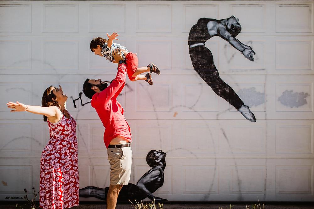 séance photo grossesse famille - ambiance street art - 94 - carole j. photographie