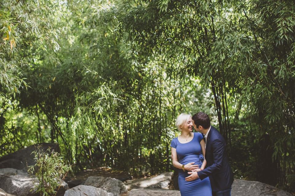 photo couple grossesse Paris 15 parc andré citroen