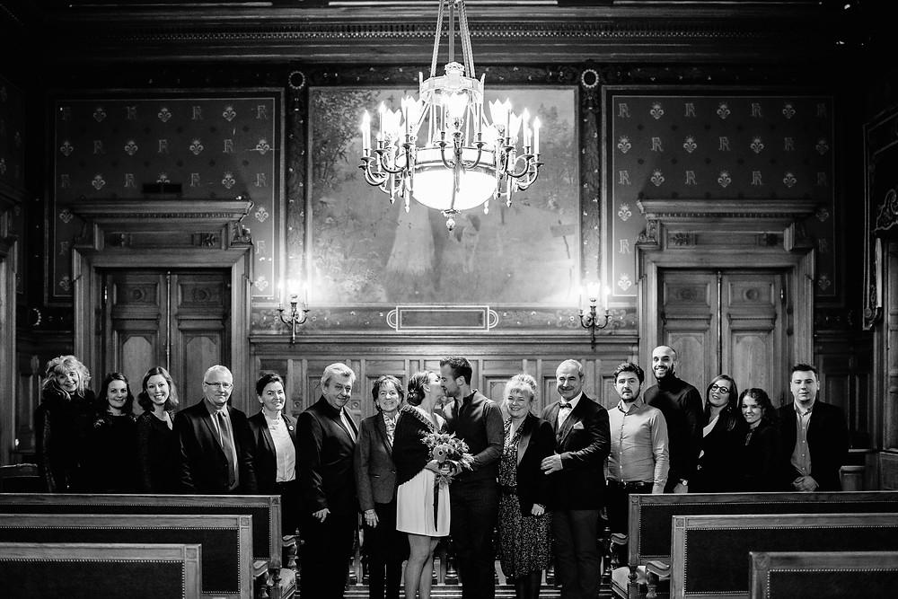 photo mariage hiver paris 14 mairie cérémonie civile