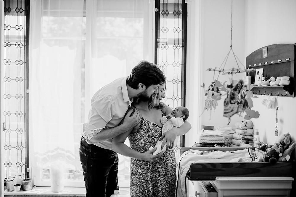 Photographe naissance à domicile Paris