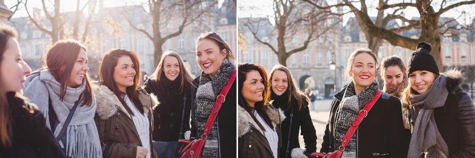reportage photo EVJF Paris Place des Vosges