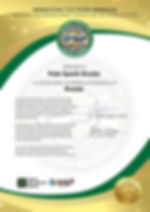 IPSF Compeition Certificate of Pole Spor