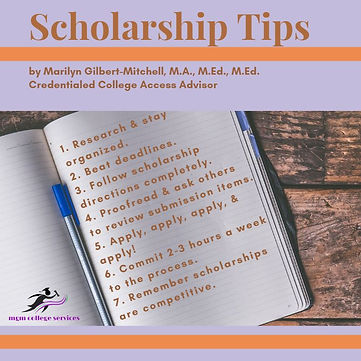 Scholarship Tips Image by MGM.JPG