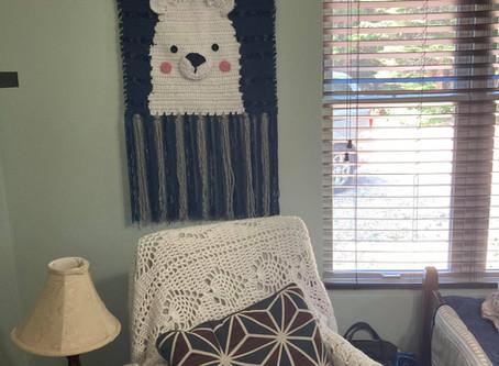 DIY Nursery: Make Your Own Bear Tapestry!