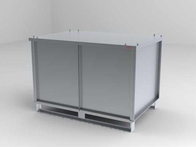 Aluminiumcontainer mit Türen+Deckel
