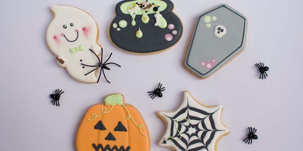 Halloween Biscuit Decorating