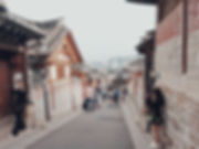 Bukchun Hanok Village is filled with traditional korean houses and architecture