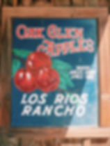 Sign from Oak Glen Apples, Southern California. Where Apples grow a mile high! Beautiful, old style sign from an Apple Farm.