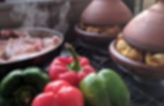moroccan tagines and roasting bell peppers