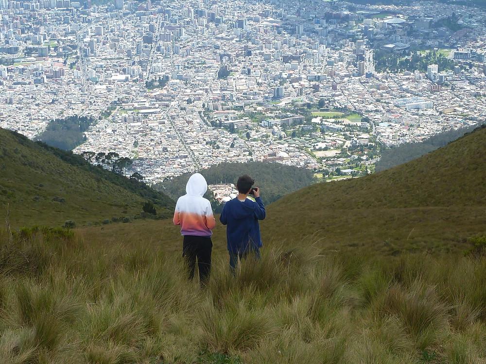 High above Quito in Ecuador. Climb Pichincha and get a fantastic scenic view over the City of Quito in Ecuador.