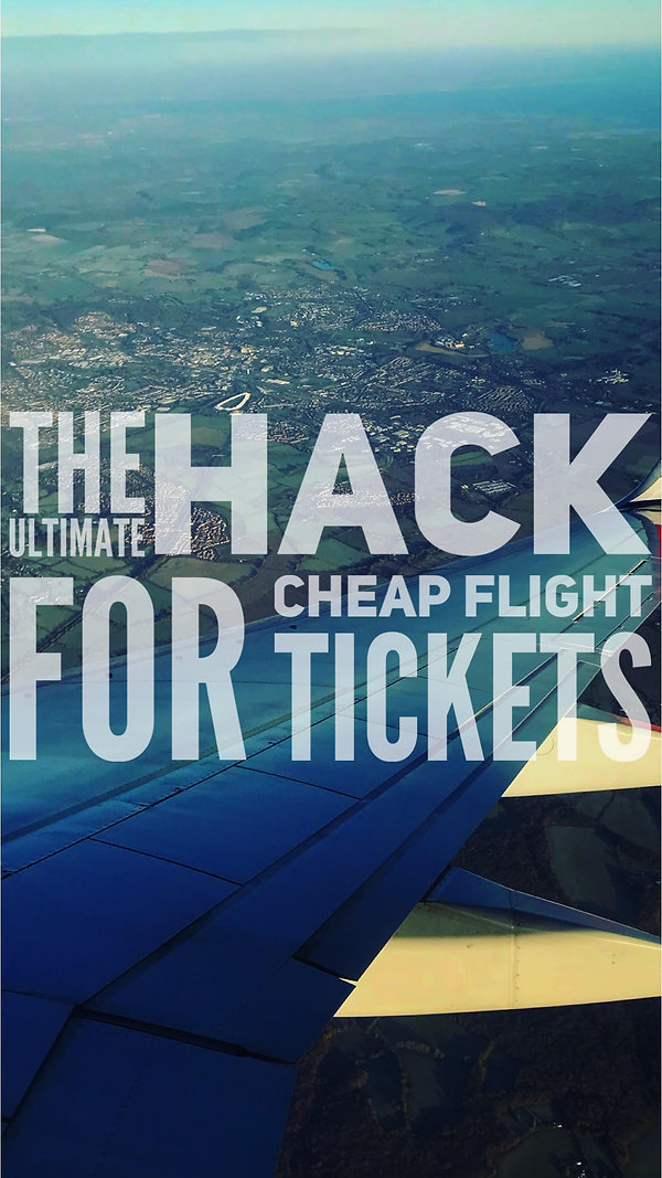 Read The Ultimae Hack for Cheap Flight Tickets and star saving Money when booking and buying Flight Tickets Online! We give Free Advice on when to book and why to find the Cheapest Flght Tickets avilable online today, right now!