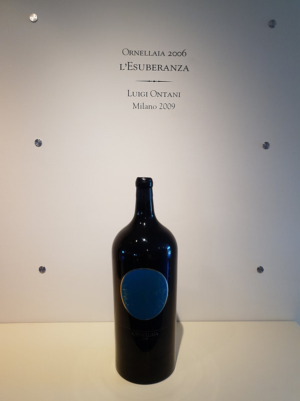 A Bottle of Ornellaia 2006 L'Esuberanza by Luigi Ontani, Milano 2009.