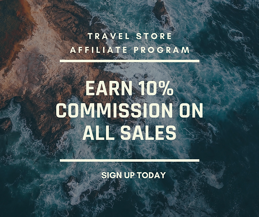 Earn 10% commission on all Travel Products in our Travel Store. Sign up here.
