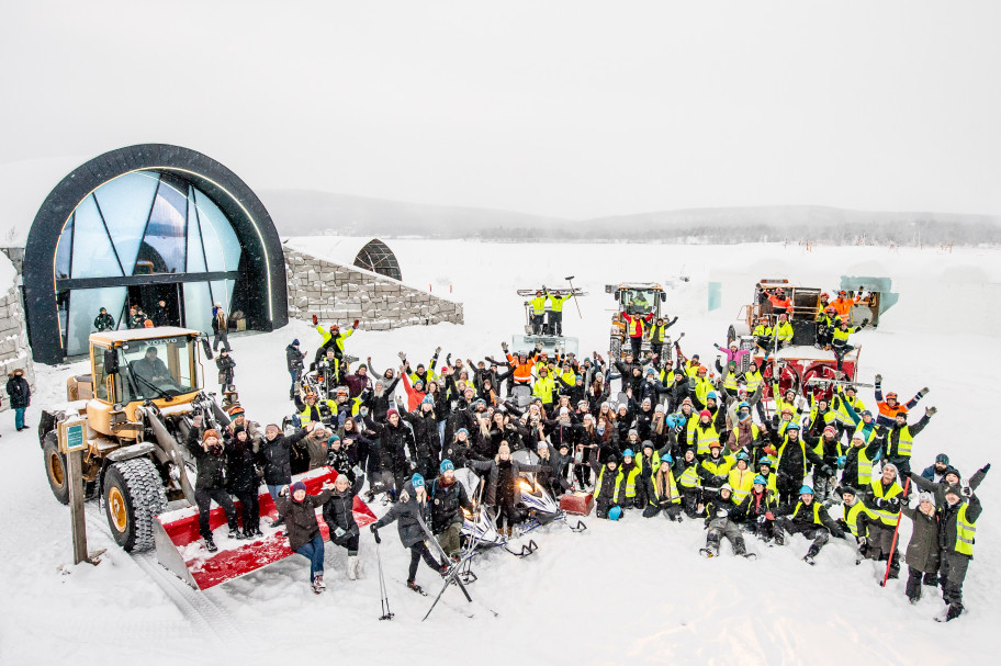 The Team at ICEHOTEL. ICEHOTEL 29 Staff | Photo: Asaf Kliger