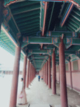 Wooden details of th houses in Geunjeongjeon Hall.